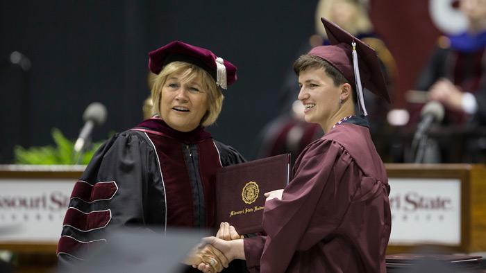 Deidre Ashley at graduation